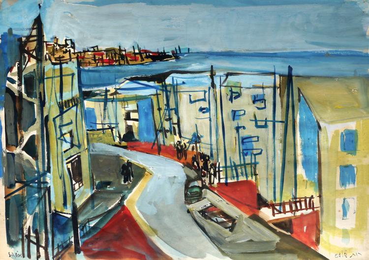 Ruth Schloss, 1922-2013, Figures in a Landscape