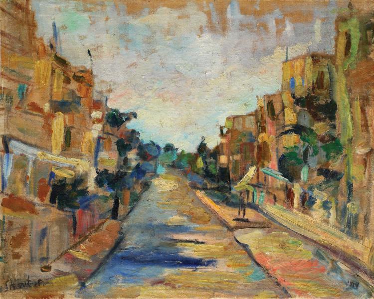 Menachem Shemi, 1897-1951, Street in Haifa, 1925