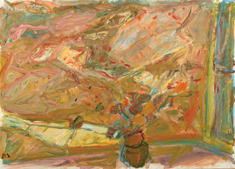 Eliahu Gat, 1919-1987, Vase on the Windowsill