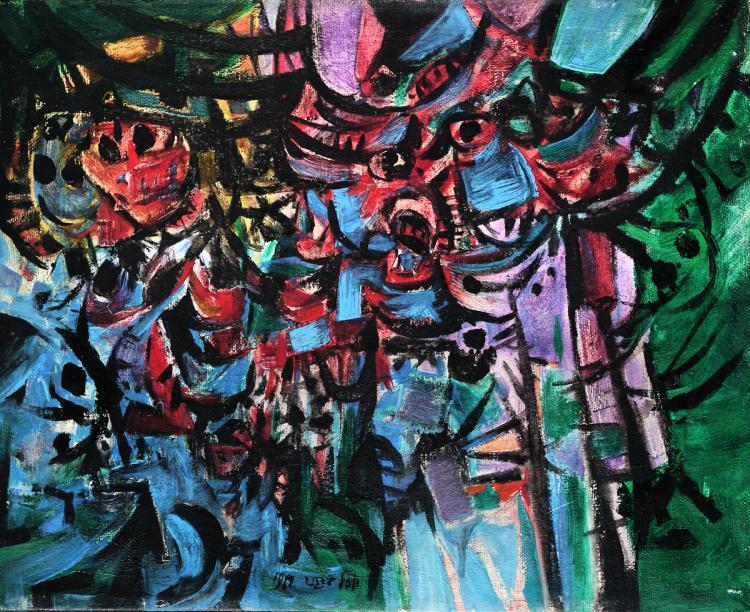 Yosl Bergner, 1920-2017, Angels, 1962