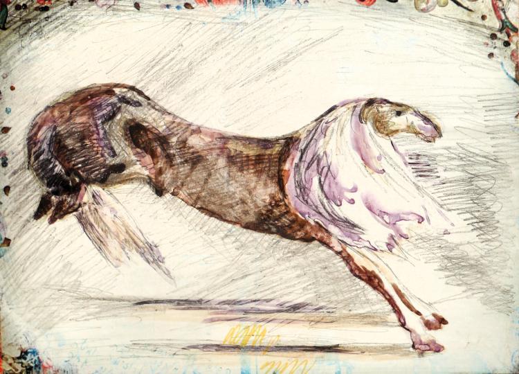 Arieh Aroch, 1908-1974, Kubin's Horse, 1970
