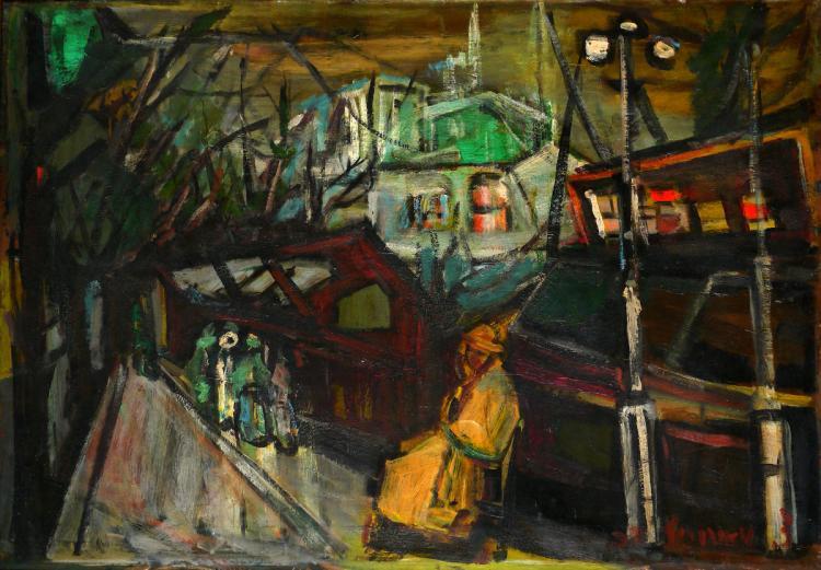 Zvi Mairovich, 1911-1974, Figures in a Landscape