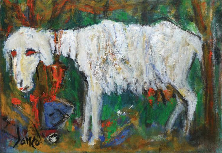 Marcel Janco, 1895-1984, Goat, 1948