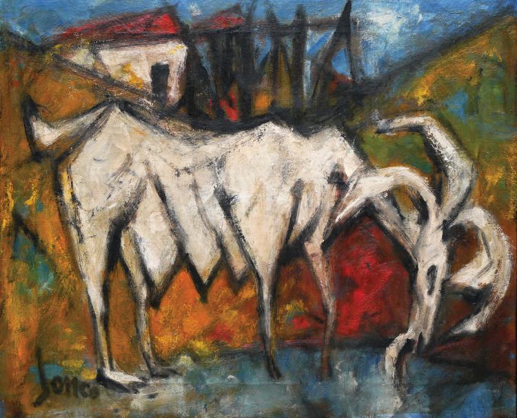 Marcel Janco, 1895-1984, Goat, 1970's