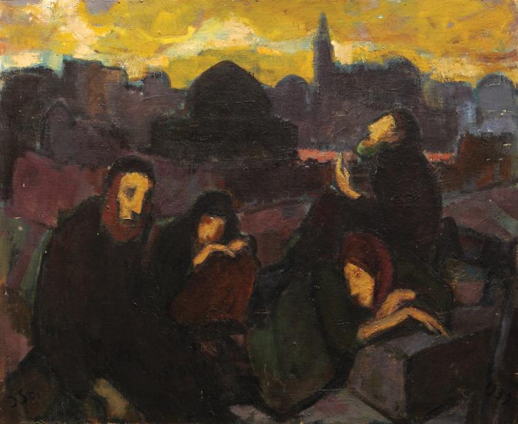 Jakob Steinhardt, 1887-1968, Jews in the Old City, 1939