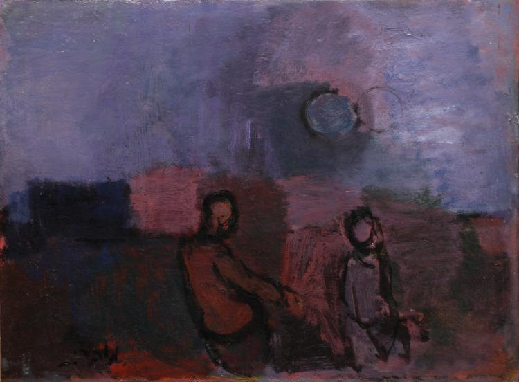 Moshe Mokady, 1902-1975, Figures in Landscape