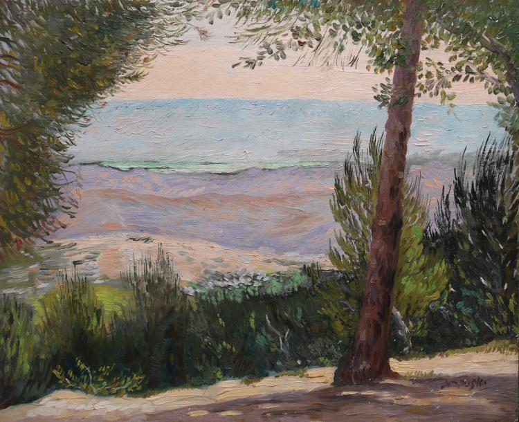 Jacob Eisenberg, 1897-1966, Landscape in the Sea of Galilee