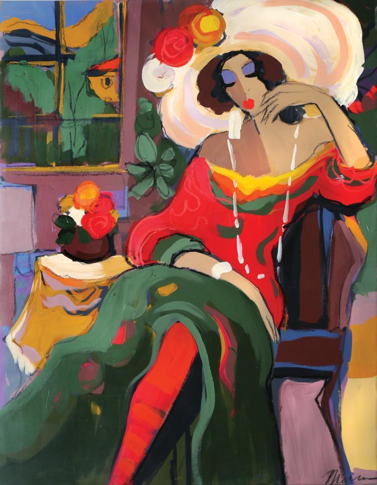 Isaac Maimon, b. 1951, Seated Woman