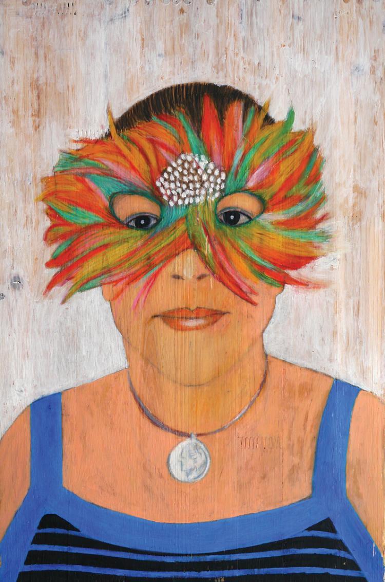 Haim Maor, b. 1951, Nora with a Mask, 2010