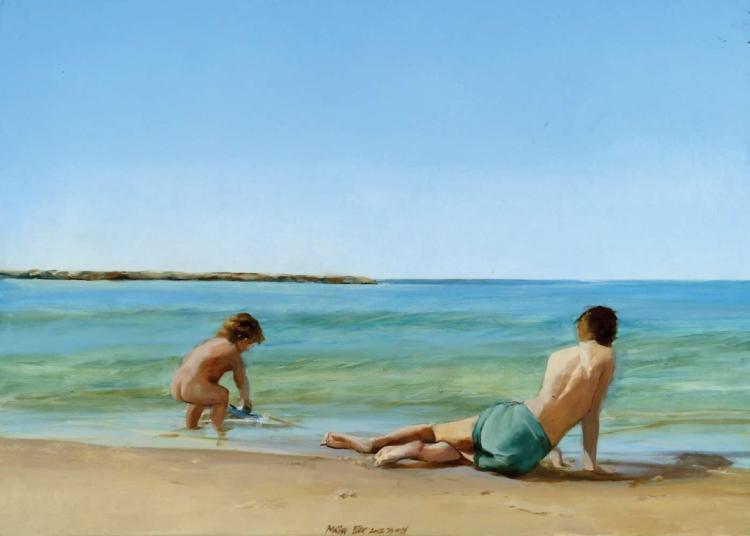 Maia Zer, b. 1962, Children at the Beach, 2012