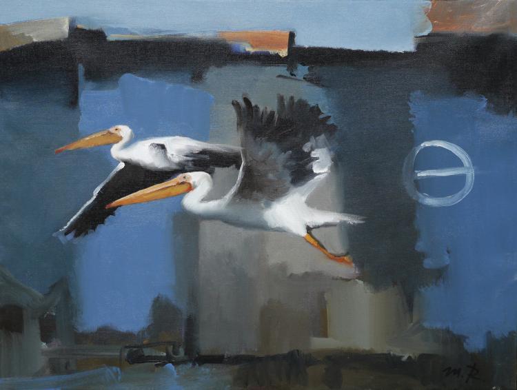 Misha Rapoport, b. 1948, Pelicans, 2012