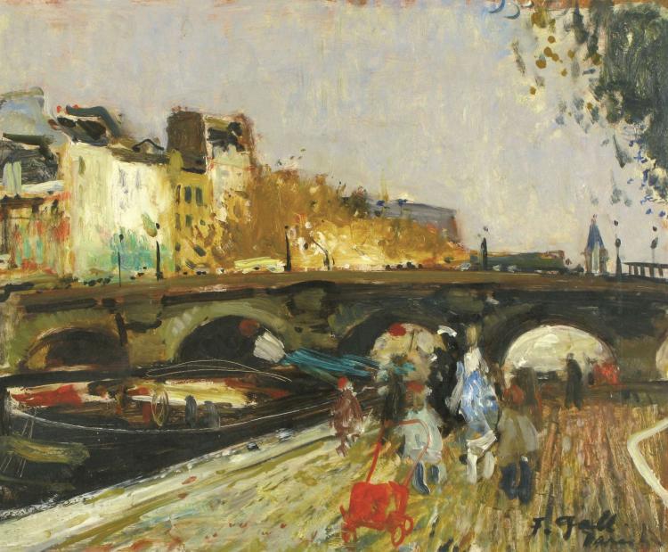 Francois Gall, 1912-1987, Bridge over the Seine