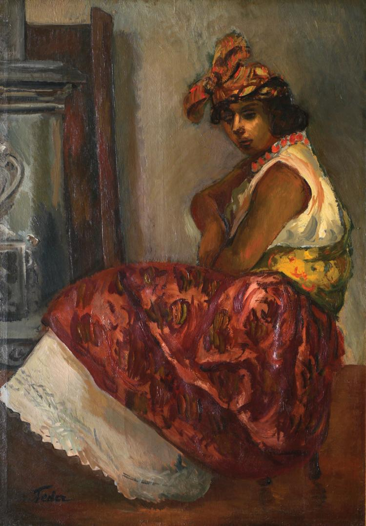 Adolphe Feder, 1886-1943, Seated Woman