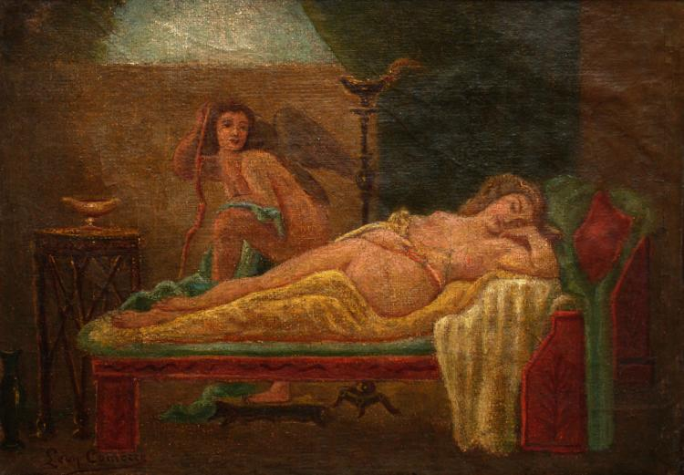 Léon Comerre, 1850-1916, Cupid and Psyche