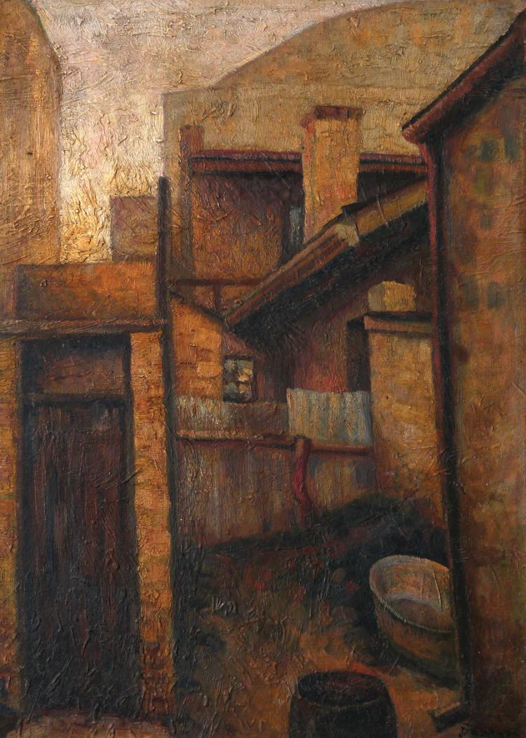Dezso Koenig, 1902-1972, Street in Hungary