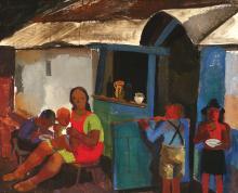 Vilmos Aba-Novak, 1894-1941, Figures in the Village,1934