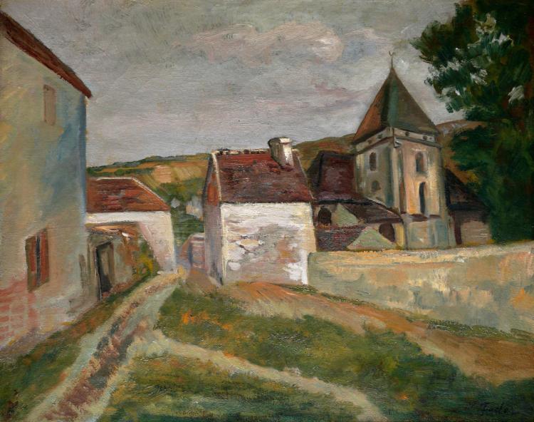 Adolphe Feder, 1886-1943, Village in France