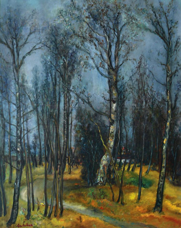 Isaac Antcher, 1889-1992, Trees in Landscape