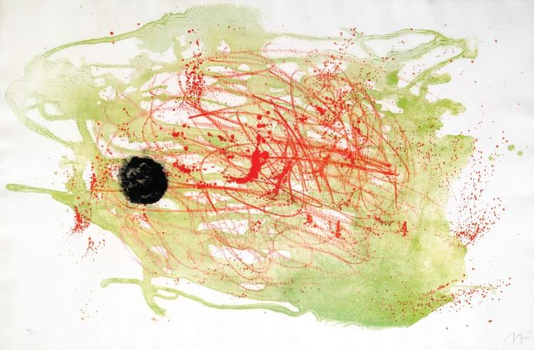 Joan Miro, 1893-1983, Series 1, Red and Green, 1961