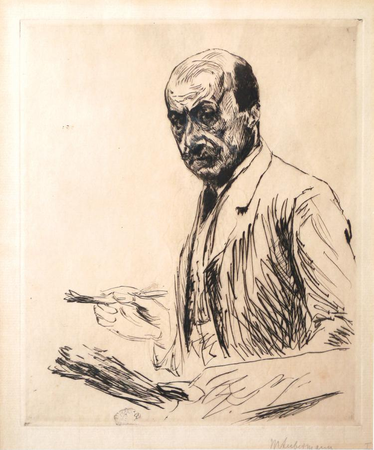 Max Liebermann, 1847-1935, Self Portrait with a Plate, 1911