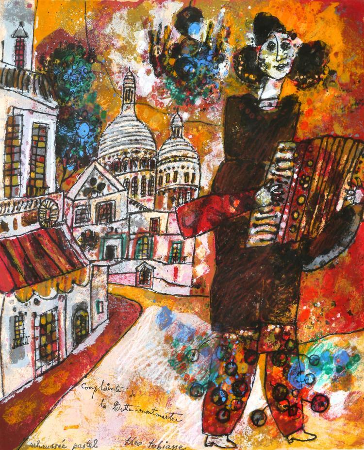 Theo Tobiasse, 1927-2012, Accordionist in Montmartre
