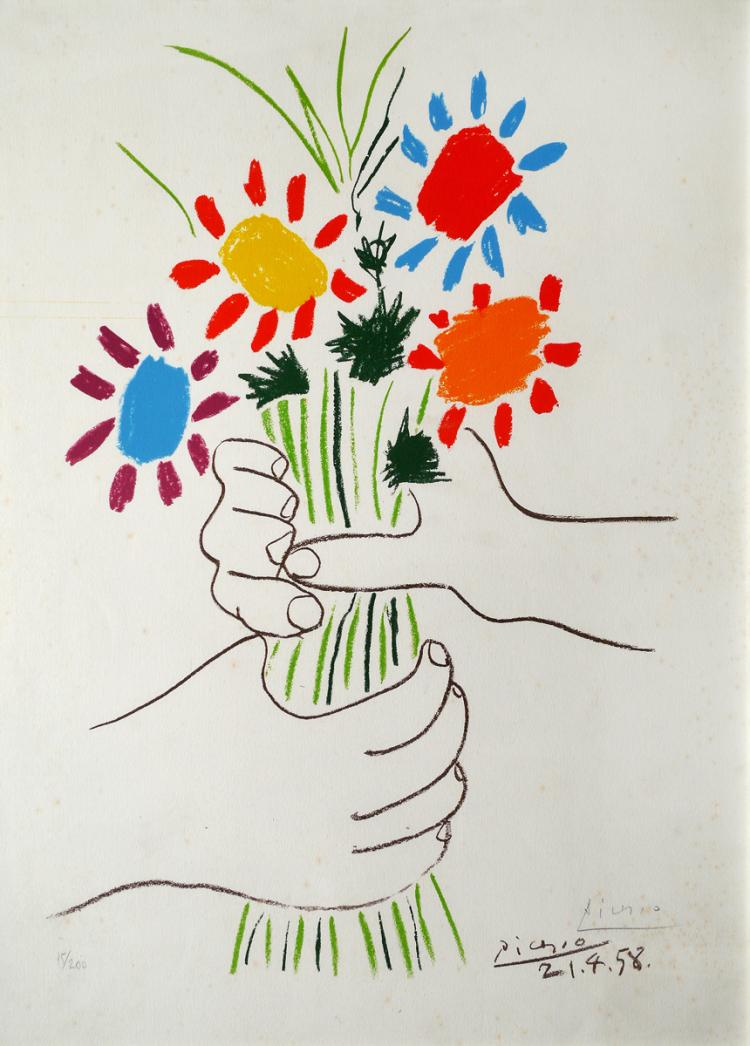Pablo Picasso, 1881-1973, The Flowers of the Peace, 1958