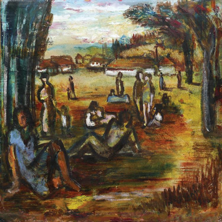 Yochanan Simon, 1905-1976, Figures in the Kibbutz, 1946