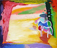 Sheep in a Meadow, 1989-90
