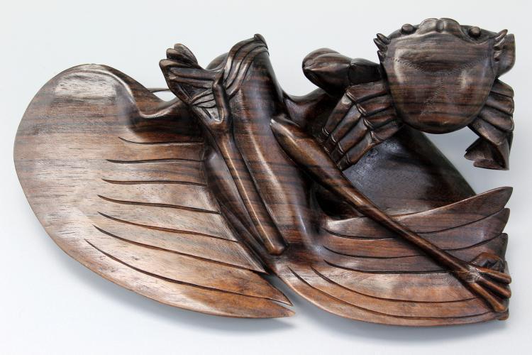 Chinese dark wood carving