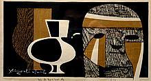 Haniwa I Colored, Lithograph, by Kiyoshi Saito (1907 - 1997)