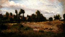 19th Century Barbizon School Landscape, Oil on Canvas, by Houze, French Artist.