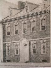 Gadsby's Tavern, Alexandria, Virginia, Etching, signed by Don Swann.