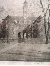 The Capitol, Williamsburg, Etching, Signed by Don Swann.