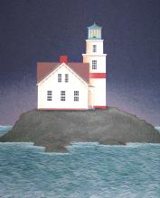 Night Beacon, Serigraph on Paper, signed by Ted Jeremenko, Edition of 175 Artist Proofs.