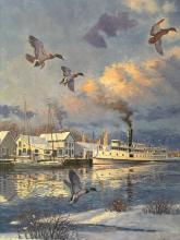Winter on Eastern Shore, Lithograph on Paper, by John Barber. Edition of 950.