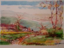Country Scene, by Salvador Caballero. Medium: Artist