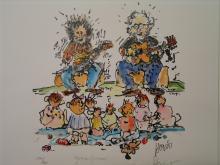 Garcia Grisman. By Jerry Garcia. Estate Signed Limited