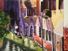 Gondola, Venice, by Tony Bennett. Artist signed Limited