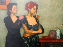 Helping With The Dress. By Malcolm Liepke. Artist