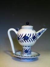 Chinese Blue and White Porcelain Teapot, Xuande Mark.