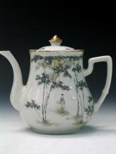 Chinese antique porcelain teapot.