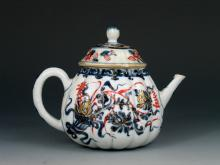 Antique Chinese Imari Porcelain Teapot, 18th Century.