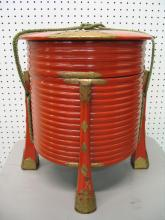 Japanese lacquer bucket.