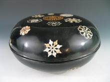 A Large Chinese lacquer box with mother of pearl inlaid