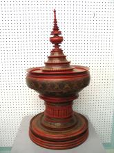 Oriental lacquer container.