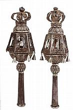 Pair of silver finials – Iraq, beginning of the 20th century.