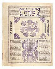 Mizrach poster, Tzfat 1900.