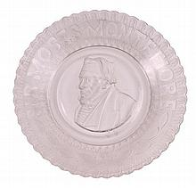 Glass plate. Moses Montefiore, England, 1884.