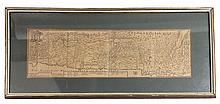 Panoramic geographic map of the Land of Israel according to the division into tribes. 18th century.