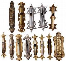 Collection of mezuzah cases. India, 20th century. Rare.